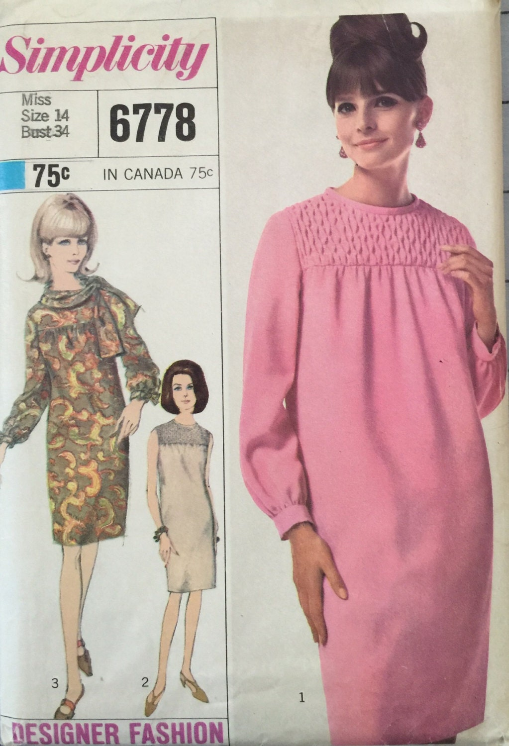 d1bba0c161 Simplicity 6778 Misses  One-Piece Dress and Scarf Pattern