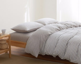 Striped Pillow case 100% Linen Flax - Washed Softened - Housewife Standard Queen King Euro -  Ideal for HOT climate