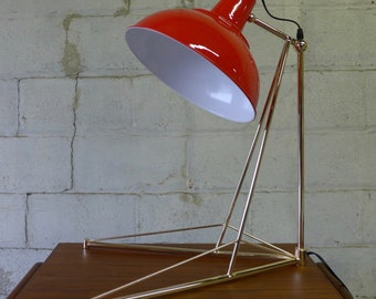 Contemporary TOMATO RED Table LAMP