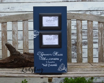 "Grandma and grandpa's house, where cousins go to become best friends""Picture frame 24x12"". Customize your own frame by Ladybug Design by Eu"