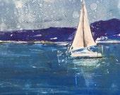 Sail, original monotype