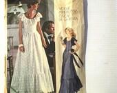 Vogue Americana Vintage Sewing Pattern 1043 Evening Dress Oscar De La Renta Misses' Size 14 Bust 36 1970s