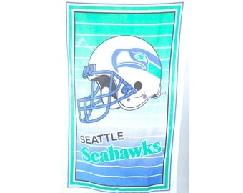 Vintage Retro Bright Colored Seattle Seahawks Banner Flag Wall Hanging
