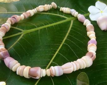 Puka Shell Lei Puka Shells Shell Necklace Shell Jewelry Hawaii Endemic Kauai Made Hawaiian Style Gathered Eco Freindly Endangered reef Gems