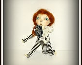"Black and White, ""Totally Neutral"" Handmade Outfit for 10"" Sprockets Doll by Connie Lowe Yo SD BJD, Clothes for Sprocket"