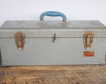 Vintage Union Super Steel Tool Chest or Box with Pull Out Tray