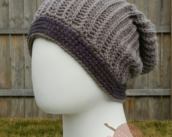 Sweater Slouch Beanie Pattern by Crafty Ridge - Pattern Only