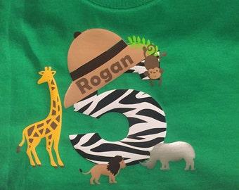 Safari themed birthday shirt