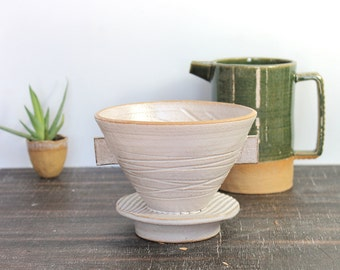 Pour-over Coffee Dripper, Ceramic Coffee Maker, Handmade Coffee Dripper