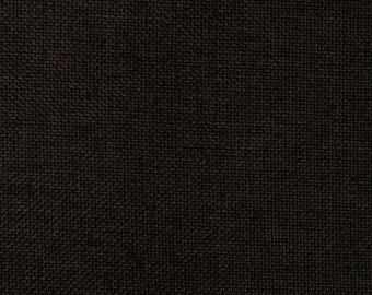 One Custom Twin Size Daybed  Mattress Cover for  INDOOR Faux Linen Black - Pillow Covers Available