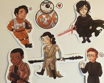 Star Wars force awakens stickers