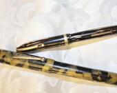 Two Vintage Fountain Pens - Sheaffer 875 - Wearever Flat Top Pen
