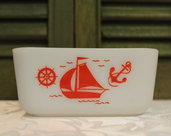 McKee Red Nautical Ships - No Lid