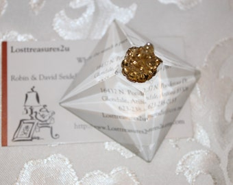 Small vintage crystal pyramid Paperweight