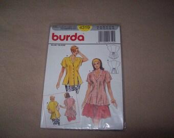 Burda Blouse, burda Sewing Pattern 4319