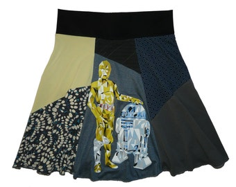 Star Wars Plus Size 1X 2X Hippie Skirt Women's upcycled clothing from Twinkle