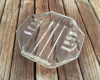 Vintage SAFEX Art Deco Glass Ashtray