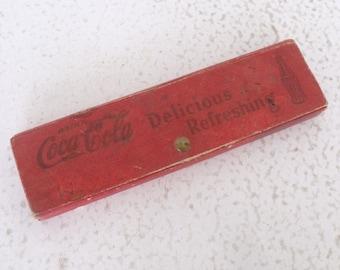 1930s Coca Cola Pencil Case Vintage School Supplies Advertising Wonder Bread