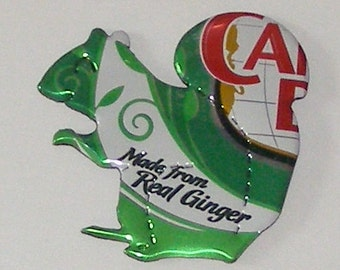 SQUIRREL Magnet - Canada Dry Ginger Ale Soda Can (Replica)