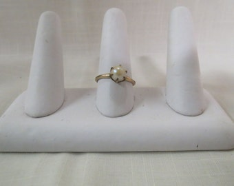 Antique Uncas Pearl Solitaire Ring Hand Set Claw Setting Ewardian