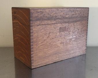 Oak Wooden Box, Filing Box