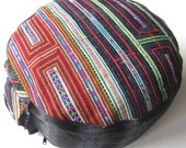 Rainbow Embroidered Unique Pillow with Innerpillow made in Germany YOGA CUSHION MEDITATION