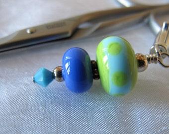 Green and Blue Scissor Fob