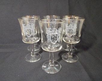 A Set of 6 Vintage McIntosh Stemmed Glassware