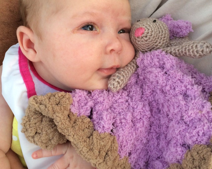 Mouse Lovey / Security Blanket / Amigurumi Toy