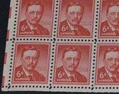 US  1954 MNH 10 stamps  Scotts #1039 Thoedore Roosevelt