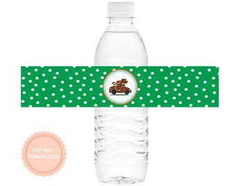 INSTANT DOWNLOAD Go Dog Go Water Bottle Wraps