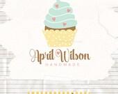 Cupcake logo design - Bakery Logo - Whimsical cake logo - bake shop logo design - logo and watermark
