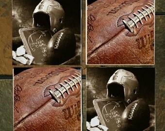 Vintage Football Coasters Set