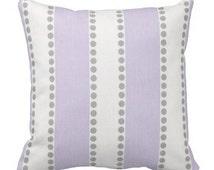 Throw Pillows,Lavender Pillow Covers, Pillows for Couch, Decorative pillows,Striped Pillows,Rocking Chair Pillow, Pillow Sets, Euro Shams