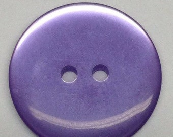 5 Plastic Purple Buttons Lilac Three Quarter Inch Flat 2 hole Vintage