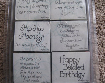 Close to My Heart - Birthday Wishes - Retired - Rare