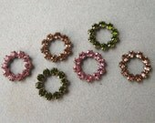 Swarovski 11mm Open Circle Findings Connectors You Choose Color Rose Lt Colorado Olivine (6)