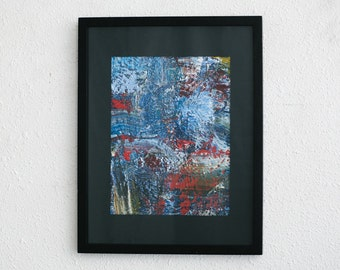 Original Framed Abstract Painting - Haberman