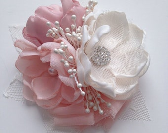 Pin Corsage - Blush and pale Dusty Pink Corsage - Soft Pink, Pale Pink, Blush Pink, Baby Pink, Mother's Corsage, Mother of the Bride
