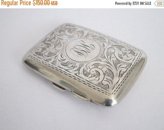 Antique British Silver Cigarette Case, Business Card Holders