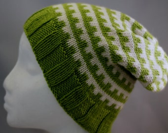 Hand Knit beanie wool hat// Free Worldwide Shipping