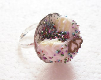 Pinata Cake Ring. Polymer Clay.