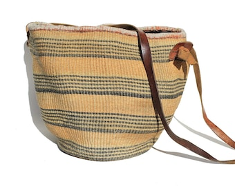 Weave Basket Bucket Tote or Shoppers Bag