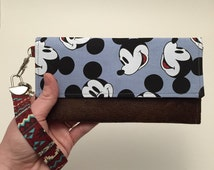 Mickey mouse tribal wallet | disney character | wristlet | key fob