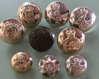 British Military Brass Buttons