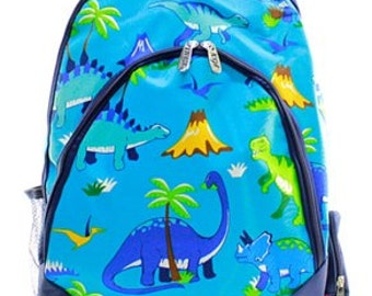 Monogrammed Dinosaur Bookbag - Boy's Backpack - Monogrammed Backpack - Back to School - Monogrammed Bookbag