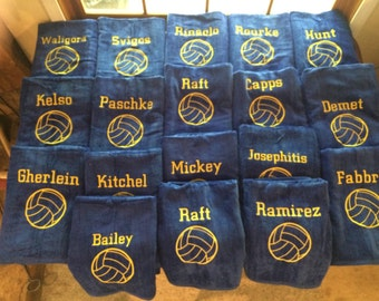 Water polo towels, Personalized beach towel, pool towel, monogrammed towels, terry velour towel, kids towels, bath towel, 32 x 60