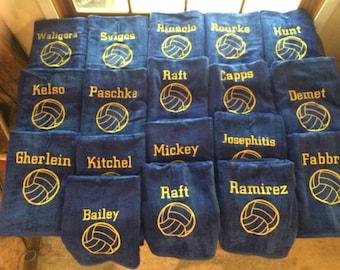 Water polo towels x 25.00 each Personalized beach towel, pool towel, monogrammed towels, terry velour towel, kids towels,