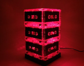 Music Lover Gift Mixtape Light Red Cassette Tape Lamp Mixtape Light