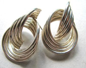 Post earrings, Sterling Silver, vintage earrings